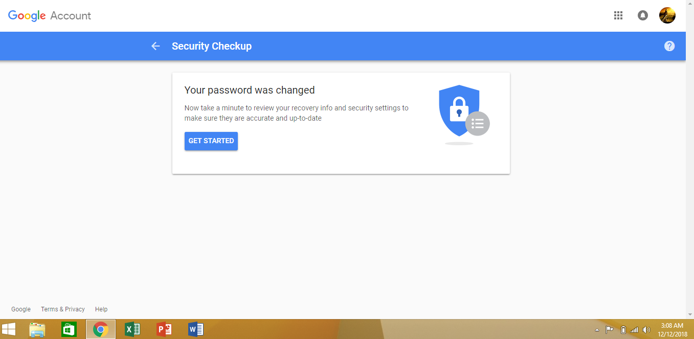 Gmail Password is changed